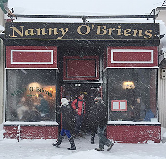 Warm up at Nanny's during the blizzard