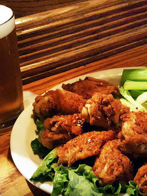 Nanny's famous wings and beer