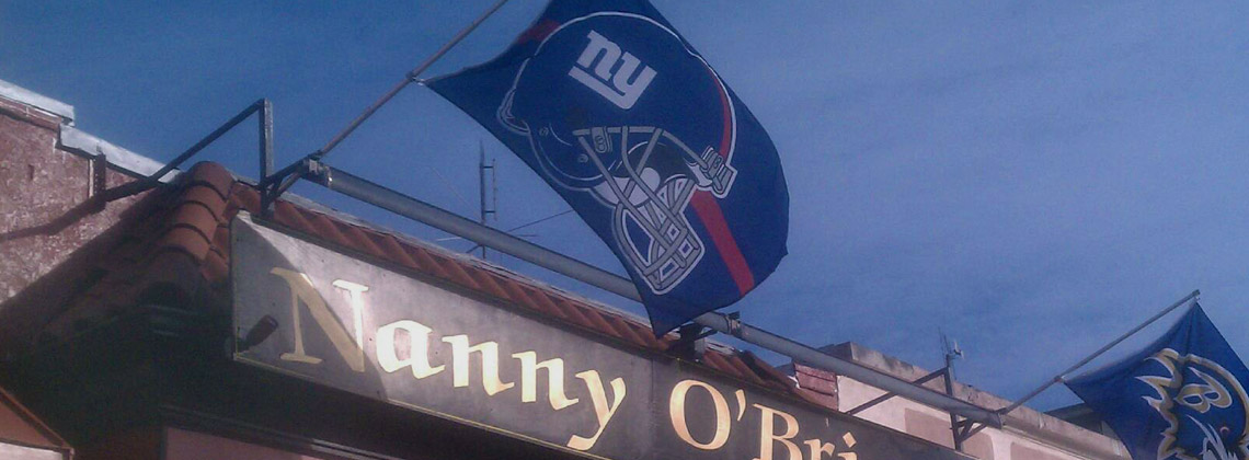 Watch Giants Football at Nanny OBrien's